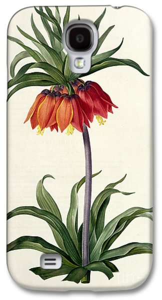 Botanical Galaxy S4 Cases - Fritillaria Imperialis Galaxy S4 Case by Pierre Joseph Redoute