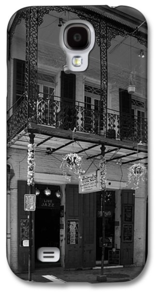 Fritzel's European Jazz Pub In Black And White Galaxy S4 Case by Chrystal Mimbs