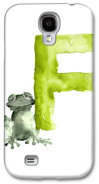 Frog Watercolor Alphabet Painting Galaxy S4 Case by Joanna Szmerdt