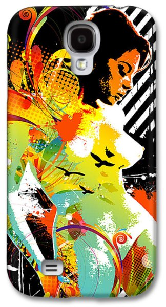 Abstract Digital Mixed Media Galaxy S4 Cases - From Within Galaxy S4 Case by Chris Andruskiewicz