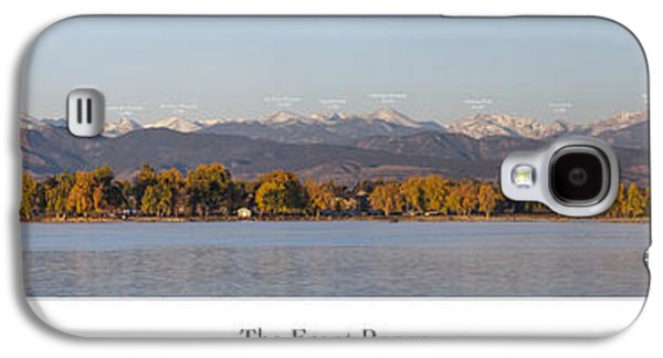 Front Range With Peak Labels Galaxy S4 Case by Aaron Spong