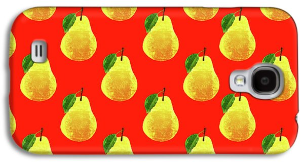 Fruit 03_pear_pattern Galaxy S4 Case by Bobbi Freelance