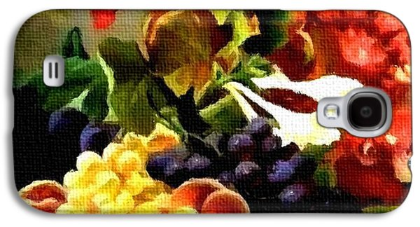 Abstract Digital Pastels Galaxy S4 Cases - Fruit Still-Life Catus 1 no. 1 H A Galaxy S4 Case by Gert J Rheeders