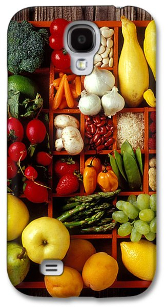 Fruits And Vegetables In Compartments Galaxy S4 Case by Garry Gay