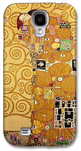 Embracing Galaxy S4 Cases - Fulfilment Stoclet Frieze Galaxy S4 Case by Gustav Klimt