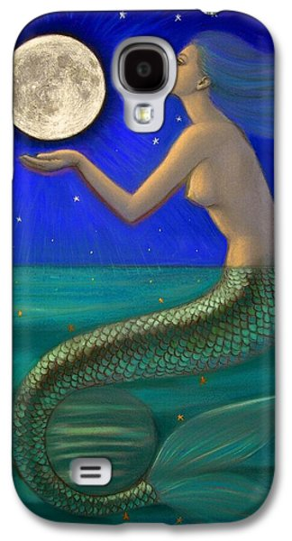 Full Moon Mermaid Galaxy S4 Case by Sue Halstenberg