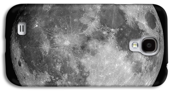 No People Photographs Galaxy S4 Cases - Full Moon Galaxy S4 Case by Roth Ritter