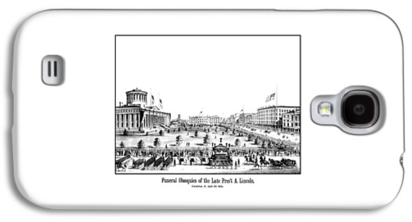 Honest Abe Galaxy S4 Cases - Funeral Obsequies Of President Lincoln Galaxy S4 Case by War Is Hell Store