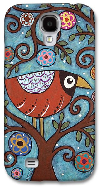 Abstract Prints For Sale Paintings Galaxy S4 Cases - Funky Bird Galaxy S4 Case by Karla Gerard