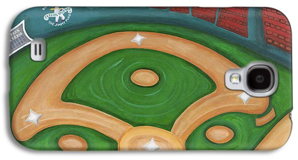Red Sox Paintings Galaxy S4 Cases - Funky Fenway Galaxy S4 Case by Melissa Fassel Dunn