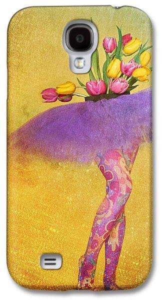 Original Art Photographs Galaxy S4 Cases - Funky Tulips Galaxy S4 Case by Jone Vasaitis