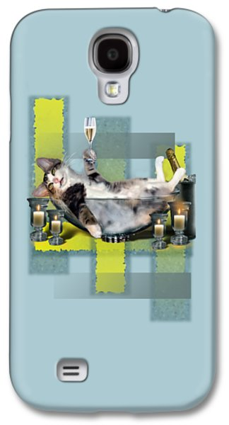 Funny Pet Print With A Tipsy Kitty  Galaxy S4 Case by Regina Femrite