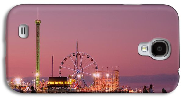 Rollercoaster Photographs Galaxy S4 Cases - Funtown Pier At Sunset III - Jersey Shore Galaxy S4 Case by Angie Tirado-McKenzie