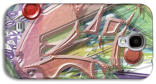 Colorful Abstract Galaxy S4 Cases - Gaga Galaxy S4 Case by Warren Lynn