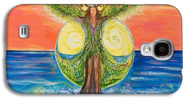 Gaia Rising Galaxy S4 Case by Solveig Katrin