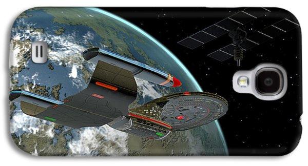 Galaxy Class Star Cruiser Galaxy S4 Case by Corey Ford