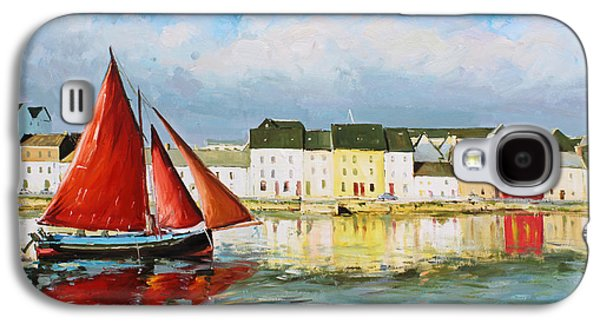Fishing Village Galaxy S4 Cases - Galway Hooker Leaving Port Galaxy S4 Case by Conor McGuire