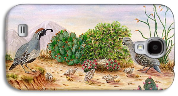 Gambel Quails Day In The Life Galaxy S4 Case by Judy Filarecki