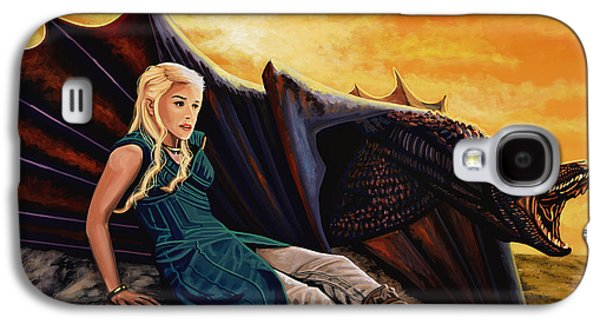 Picture Paintings Galaxy S4 Cases - Game Of Thrones Galaxy S4 Case by Paul Meijering