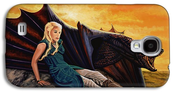 First Lady Paintings Galaxy S4 Cases - Game Of Thrones Galaxy S4 Case by Paul Meijering