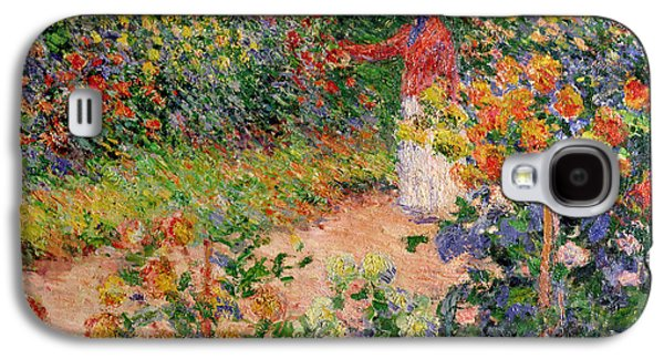 Cutting Galaxy S4 Cases - Garden at Giverny Galaxy S4 Case by Claude Monet