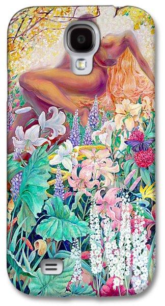 Spiritual Portrait Of Woman Drawings Galaxy S4 Cases - Garden of Eden Galaxy S4 Case by SvetLana Grecova
