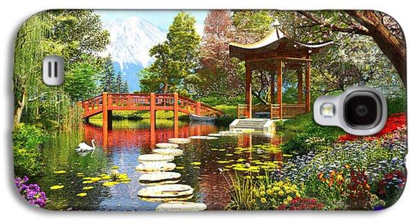 Cherry Blossoms Galaxy S4 Cases - Gardens of Fuji Galaxy S4 Case by Dominic Davison