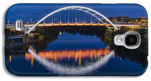 Digital Galaxy S4 Cases - Gateway Bridge - Nashville Galaxy S4 Case by Stephen Stookey