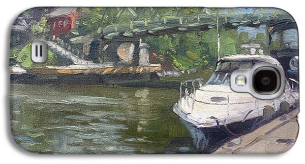 Waterscape Paintings Galaxy S4 Cases - Gateway Harbor Park Galaxy S4 Case by Ylli Haruni