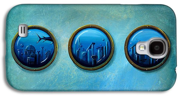 Shark Paintings Galaxy S4 Cases - Gateway To Antiquity Galaxy S4 Case by Cindy Thornton