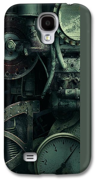 Gear Mixed Media Galaxy S4 Cases - Gear Head Steampunk  Galaxy S4 Case by Movie Poster Prints