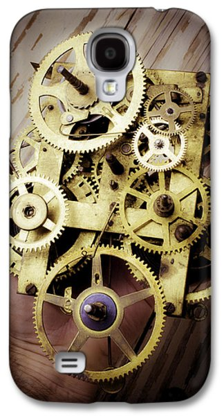 Gears Held By Hand Galaxy S4 Case by Garry Gay