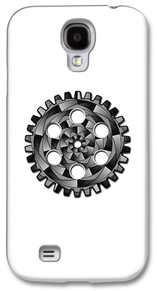 Mechanism Galaxy S4 Cases - Gearwheel in black and white Galaxy S4 Case by Gaspar Avila