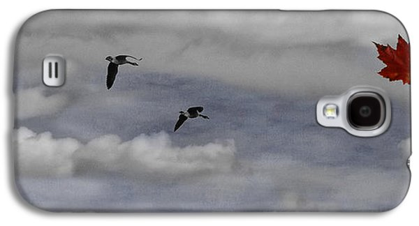 Dreamscape Galaxy S4 Cases - Geese in a Maple Sky Galaxy S4 Case by Wayne King