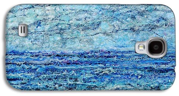 Beach Landscape Reliefs Galaxy S4 Cases - Gelid Shoreline Galaxy S4 Case by Regina Valluzzi