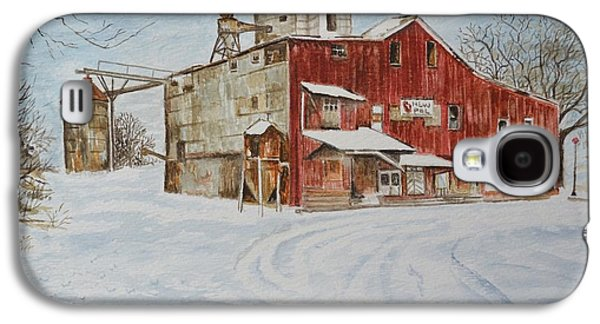 Old Feed Mills Galaxy S4 Cases - New Palestine Elevator Galaxy S4 Case by Traci Goebel