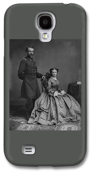 Army Digital Art Galaxy S4 Cases - General Custer and His Wife Libbie Galaxy S4 Case by War Is Hell Store
