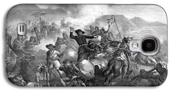 General Custer's Death Struggle  Galaxy S4 Case by War Is Hell Store