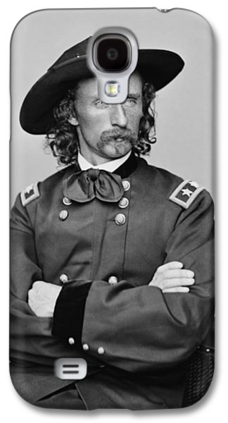 Army Digital Art Galaxy S4 Cases - General George Armstrong Custer Galaxy S4 Case by War Is Hell Store
