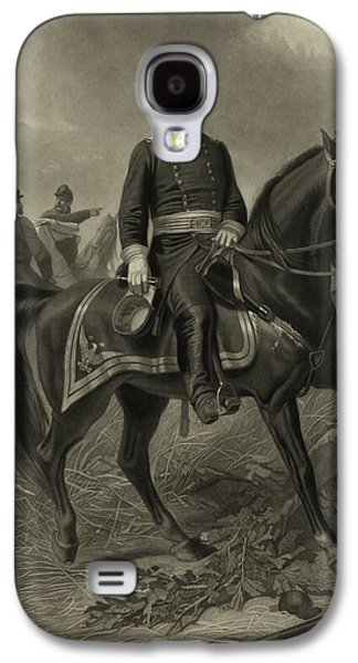 Civil War Galaxy S4 Cases - General Grant On Horseback  Galaxy S4 Case by War Is Hell Store