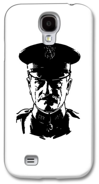 West Digital Art Galaxy S4 Cases - General John Pershing Galaxy S4 Case by War Is Hell Store