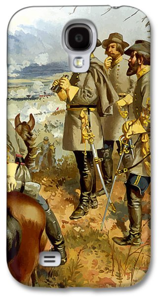 United States Paintings Galaxy S4 Cases - General Lee at The Battle of Fredericksburg Galaxy S4 Case by War Is Hell Store