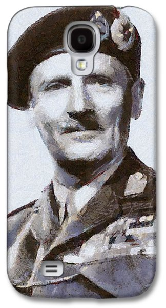 Wwi Paintings Galaxy S4 Cases - General Montgomery Galaxy S4 Case by Serpent Films