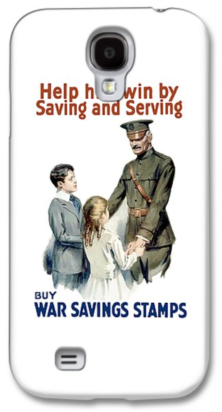 Saving Galaxy S4 Cases - General Pershing Buy War Saving Stamps Galaxy S4 Case by War Is Hell Store