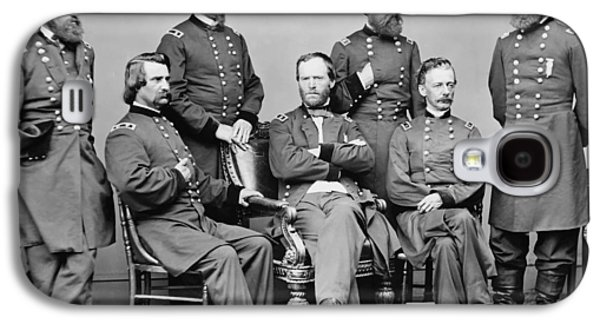 Williams Galaxy S4 Cases - General Sherman and His Staff  Galaxy S4 Case by War Is Hell Store