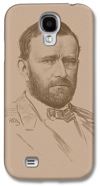 Americans Drawings Galaxy S4 Cases - General Ulysses S Grant Galaxy S4 Case by War Is Hell Store