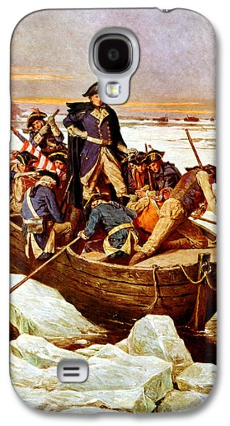 Warishellstore Paintings Galaxy S4 Cases - General Washington Crossing The Delaware River Galaxy S4 Case by War Is Hell Store