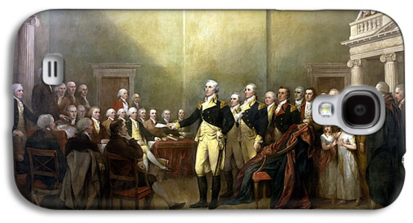 Warishellstore Paintings Galaxy S4 Cases - General Washington Resigning His Commission Galaxy S4 Case by War Is Hell Store