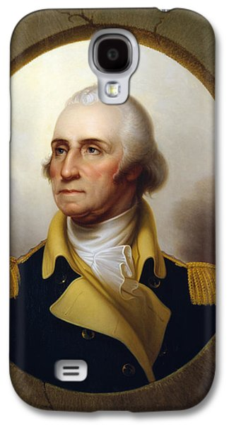 War Paintings Galaxy S4 Cases - General Washington Galaxy S4 Case by War Is Hell Store