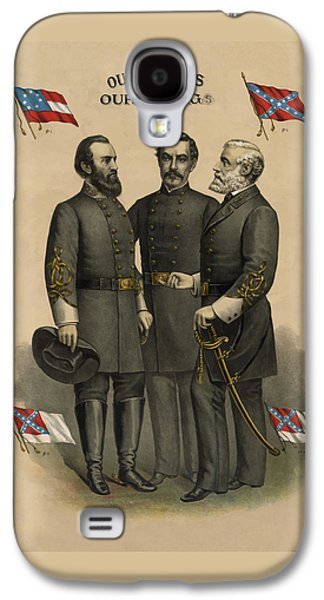 Generals Jackson Beauregard And Lee Galaxy S4 Case by War Is Hell Store